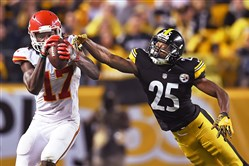 The Steelers and Chiefs will meet Sunday night at Arrowhead Stadium.