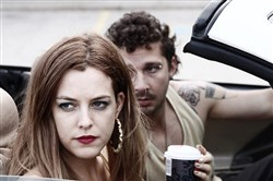 "Riley Keough and Shia LaBeouf in scene from ""American Honey."""
