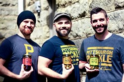 Pittsburgh Pickle Co. owners Will Patterson, John Patterson and Joey Robl.