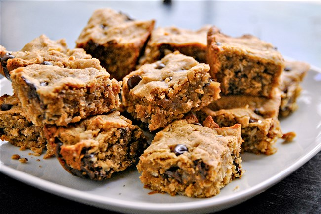 Peanut Butter Oatmeal Chocolate Chip Bars.
