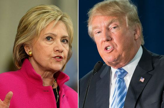 cltr.jpg Democratic presidential candidate Hillary Clinton and Republican candidate Donald Trump.