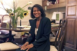 Cheryl Mills, then a deputy White House counsel for Bill Clinton's presidency, is seen at her office in Washington, D.C., on Aug. 13, 1999.