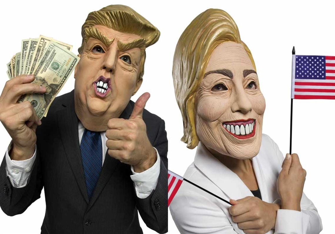 Who's scary now? Trump tops Hillary in Halloween mask index ...