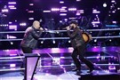 "Cresson native Josh Gallagher, right, advanced to the next round of competition on NBC's ""The Voice"" over Blaine Long."