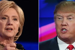 Democratic presidential candidate Hillary Clinton and Republican candidate Donald Trump