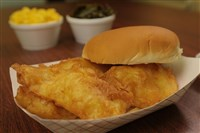 The famous fried cod sandwich at Wholey's.