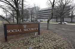 In this Jan. 11, 2013, file photo, the Social Security Administration's main campus is seen in Woodlawn, Md.