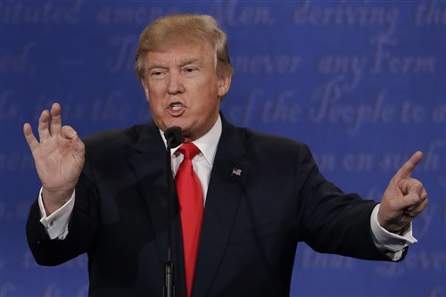 Republican presidential nominee Donald Trump's election remark during the final debate caught Republicans by surprise.