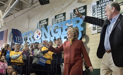 Clinton and Kaine highlight gender issues, hit Trump at Allderdice rally