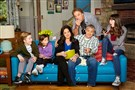 "The cast of ""Man With a Plan"" includes, from left, Matthew McCann, Hala Finley, Liza Snyder, Kevin Nealon, Matt LeBlanc and Grace Kaufman."