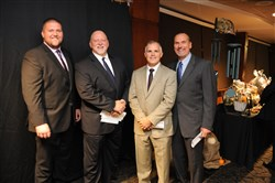 More Than a Meal Gala: From left,  Steeler B.J. Finney, Craig Wolfley, Craig Schweiger and Tunch Ilkin.