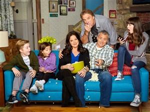 "The cast of ""Man With a Plan"" includes, from left, Matthew McCann, Hala Finley, Liza Snyder, Kevin Nealon, Matt LeBlanc and Grace Kaufman."