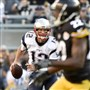 Patriots quarterback Tom Brady drops back to pass against the Steelers during an Oct. 23 game at Heinz Field.