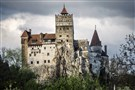 Front view of Bran Castle in Romania.