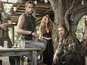 "From left, David Morse, Joe Anderson, Gillian Alexy, Ryan Hurst and Kyle Gallner star in ""Outsiders."""