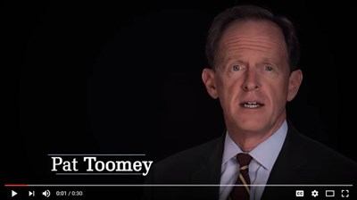 Toomey releases new ad