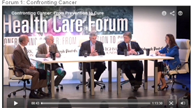 View Forum 1: Confronting Cancer