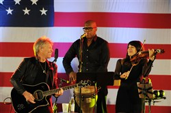 Bon Jovi plays the Get Out The Vote concert at Soldiers and Sailors Memorial Hall in Oakland on Oct. 27.