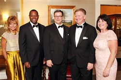 Butterfly Ball: From left, Theresa Nuzzo, Andrew Stockey, Joseph Milharcic, Bill and Sandy Lambert.