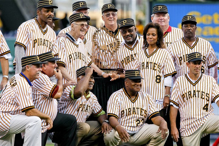 Chuck Tanner Members of the 1979 world championship Pirates pose with the World Series trophy before a 2009 game at PNC Park honoring the 30th anniversary of the Pirates' last title. From left to right, top row, Omar Moreno, Bruce Kison (partially blocked by Chuck Tanner), Kent Tekulve, Bill Madlock, the wife of the late slugger Willie Stargell, Margaret Stargell, Don Robinson, and Rennie Stennett. Bottom row, right to left are Dale Berra, Mike Easler, Grant Jackson, Steve Nicosia and Phil Garner.