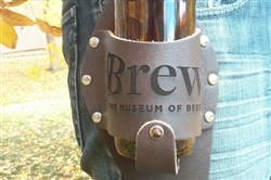 Brew: The Museum of Beer that aims to open in 2018 in Pittsburgh has an online store that sells numerous items, including this leather beer holster.  Credit: Brew: The Museum of Beer
