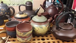 Clay Yixing Teapots.