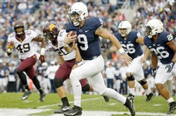 Penn State QB Trace McSorley carries against Minnesota earlier this season.