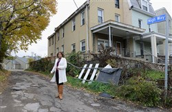 Joanne Dunn said she and other Lombard Street residents believe Nigh Way has been neglected by the city, while an adjacent area along Bentley Drive is being landscaped and getting new sidewalks and streets.