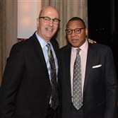 Pittsburgh Promise executive director Saleem Ghubril and jazz icon Wynton Marsalis.