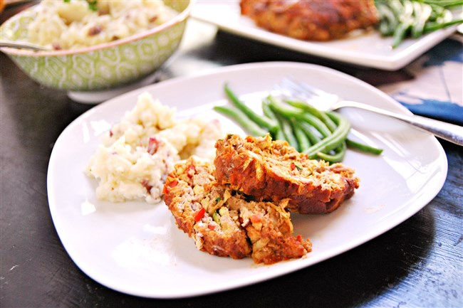 Turkey Meatloaf with Cauliflower Mashed Potatoes