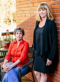 Heidi Weinhold, a naturopathic physician, poses for a portrait with her patient, Ann Hutchins, at her office in Peters.