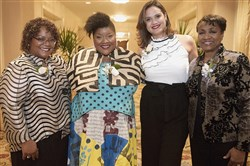 Honorees Rhonda Moore Johnson, Vanessa German, Jesabel Rivera-Guerra and Valerie McDonald Roberts.