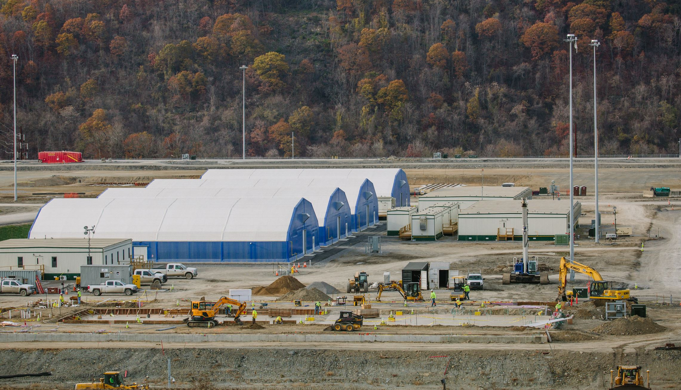 WEB cracker plant 04 Workers prepare the site of a multibillion dollar petrochemical complex that Shell is building in Potter and Center townships in Beaver County in 2016. The site spans about 400 acres.