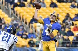 Nathan Peterman is the Pitt player expected to be drafted first according to most mock drafts at this point.