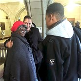 Daisy Olds, the mother of Ricky Lee Olds, talks to relatives after her son's hearing on Monday at the Allegheny County Courthouse, Downtown.
