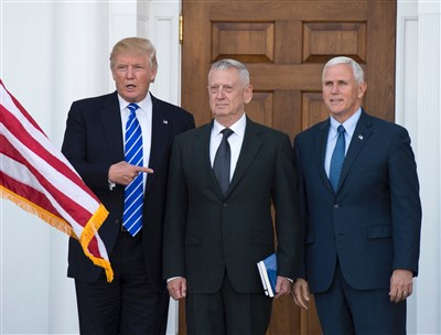 Mattis is Trump's pick for defense secretary