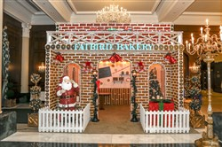 Life-size gingerbread house at Nemacolin Woodlands Resort.  Credit: Nemacolin Woodlands Resort