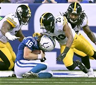 "Steelers defensive back Mike Mitchell (23) has been called ""an enforcer"" on defense by his teammates."
