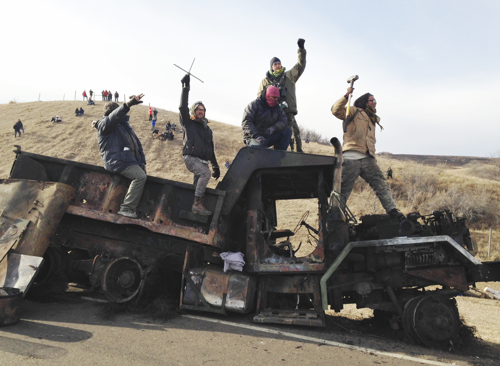 Supply deliveries to protest camp could be fined