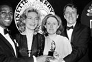 "Pittsburgh native Fritz Weaver, far right, was among the winners at the 1970 Tony Awards. With him are, from left, Cleavon Little (""Purlie""), Lauren Bacall (""Applause""), and Tammy Grimes (""Private Lives."" Mr. Weaver won for his performance in ""Child's Play"". Mr. Weaver died Saturday. He was 90."