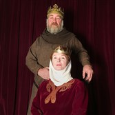 "Alan Stanford plays Henry II and Cary Ann Spear is Eleanor of Aquitaine in ""The Lion in Winter"" at PICT Classic Theatre."