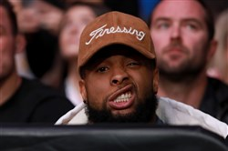 Odell Beckham at UFC 205 on Nov. 12.