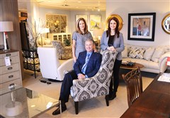 Jeff Lenchner is president of the Today's Home chain of furniture stores, a company established by his parents 63 years ago. His wife, Jill, left, and daughter Rachel also help handle the business.