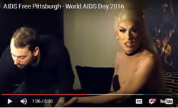A still from a video promoting testing by AIDS Free Pittsburgh.