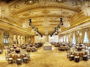 The lavish Mar-a-Lago ballroom that Donald J. Trump built at a cost of $9 million after acquiring the former Marjorie Merrieweather Post estate. His and Donald J. Trump Jr.'s wedding receptions were held here 11 months apart in 2005.