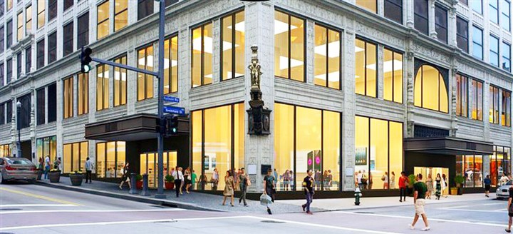 Kaufmanns_Grand_on_Fifth Architectural rendering of proposed Kaufmann's Grand on Fifth, Downtown