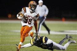 Lamont Wade of Clairton High School will make his college decision Dec. 17 at a party with his family.