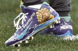 Antonio Brown's custom cleats from last season.