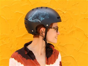 """Protect your cranium in style with limited-edition """"I Bike Share PGH"""" helmets."""