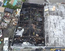 This photo provided by the City of Oakland shows inside the burned warehouse after the deadly fire that broke out Friday in Oakland, Calif.